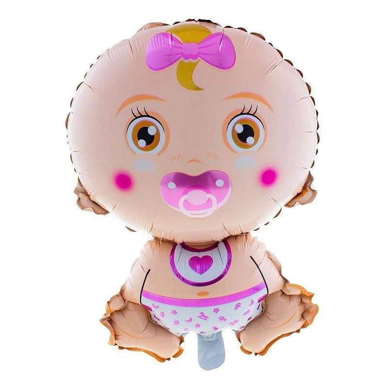 Funny Fashion lány fólia lufi, Baby Girl rózsaszín, 70 cm