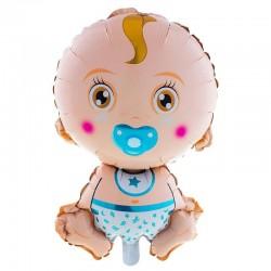 Funny Fashion fiú fólia lufi, Baby Boy figura, 70 cm