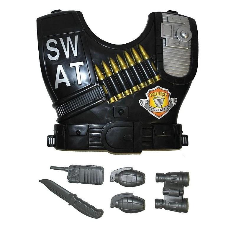 Funny Fashion rendőrségi kiegészítő készlet, SWAT golyóálló mellény, gyermek jelmez, 6 db