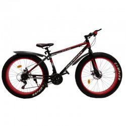 PHOENIX Fat Bike kerékpár, 26 hüvelykes, acélváz, 21 sebesség, Shimano váltó, 4 hüvelykes kerekek