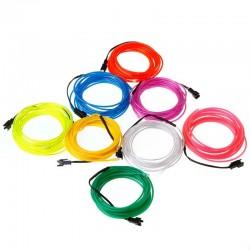 Kit 2 m fir electroluminescent cu invertor
