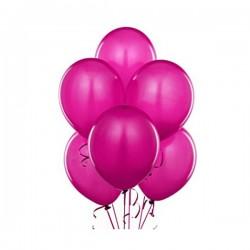 Set 100 baloane pentru petreceri copii, forma ovala, fucsia, Funny Fashion
