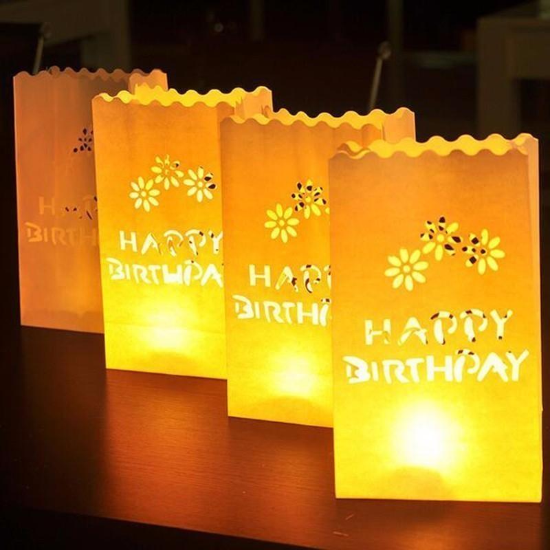 Lampioane decorative, model Happy Birthday, 5 bucati, Funny Fashion