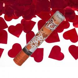 Tun confetti Love 25cm, inimioare rosii, Funny Fashion