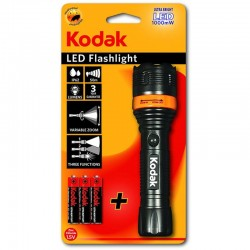Lanterna LED 1000mW, 60lm, IP62, zoom variabil, 3 functii, Kodak