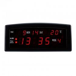 Ceas birou afisaj LED rosu, calendar, alarma, format AM/PM, Caixing