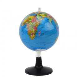 Mini glob geografic harta politica, meridian ABS, diametru 10.6cm