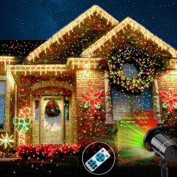 Proiector laser exterior cu telecomanda stele verzi si rosii