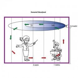 Lampa bactericida 30W economica, slim, sistem grila, pentru perete, Biocomp