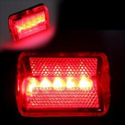 Stop bicicleta, 5 LED-uri, multifunctional, culoare rosu