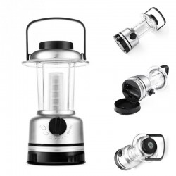 Lampa LED tip felinar, busola si intensitate luminoasa reglabila, 19 cm
