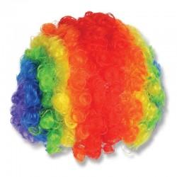Peruca de clovn, par multicolor, diametru 16 cm