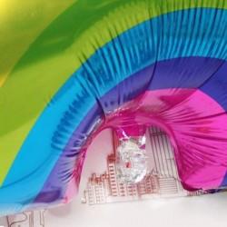 Balon folie Rainbow, 61x95 cm, multicolor