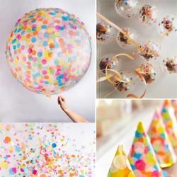 Confetti multicolore pentru party, 200 g, diverse forme
