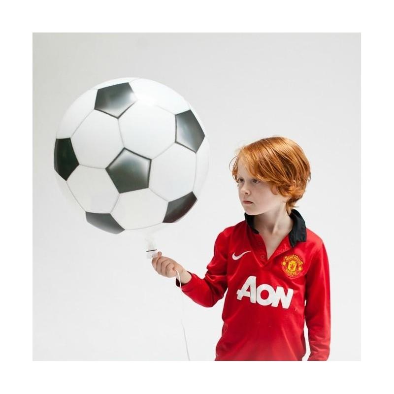 Balon folie Football Balloon, 46x55 cm, alb negru, auto-etansare