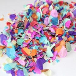 Confetti colorate pentru aniversari, 1000 g, buline si romburi