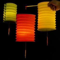 Lampioane suspendate colorate, tip chinezesc, 16x28 cm, cu cordon