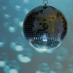 Glob disco rotund cu oglinzi, efecte luminoase, diametrul 30 cm