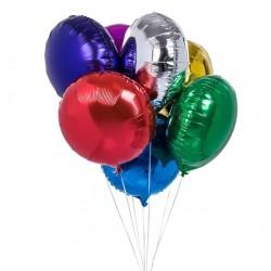 Balon folie metalizat forma rotunda, dimensiuni 28x30 cm, Funny Fashion