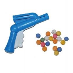 Pistol de jucarie cu bile din hartie multicolora, Funny Fashion