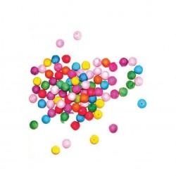 Bilute multicolore bumbac presat, rezerve pistol, efect decorativ, set 100 bucati