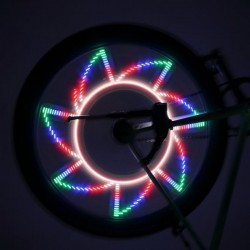 Joc lumini multicolore bicicleta, 32 LED-uri, 32 modele, senzor miscare