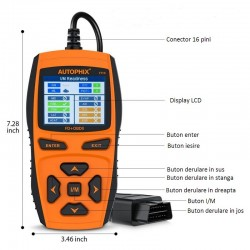 Interfata diagnoza auto OBD II compatibila Ford, 7710