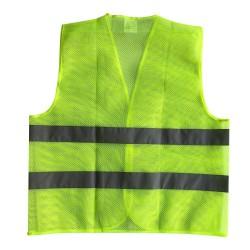 Vesta cu benzi reflectorizante, verde neon, EN471 clasa 2, marime XXL