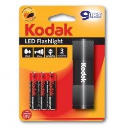 Lanterna Kodak, 9 LED-uri, 46 lumeni, raza de actiune 25m, negru