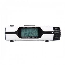 Ceas cu lanterna pentru calatorii, 18 fusuri orare, LCD 1.8 inch