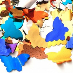 Tun confetti Fluturi pentru aniversari, 80 cm, culori mixte