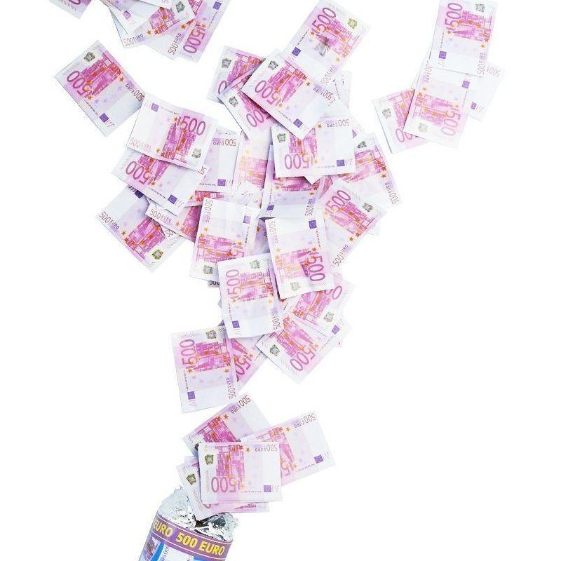 Confetti bani falsi Euro, tun 80 cm, pentru petreceri si aniversari