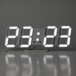 ProCart® óra digitális irodai, hűvös, fehér LED, magas kijelző, riasztás, hőmérséklt