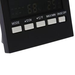 Statie meteo, ecran iluminat LCD, afisaj ora, calendar, functie alarma, ABS