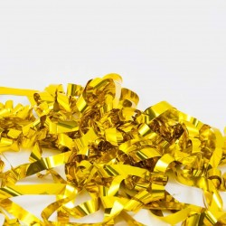 Tun confetii 80 cm, fasii aurii, pentru petreceri si aniversari
