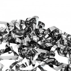 Tun confetti petreceri, fasii argintii, 80 cm