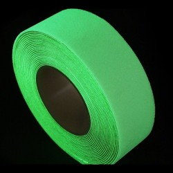 Banda antiderapanta verde, lumineaza verde fosforescent, 1 metru liniar