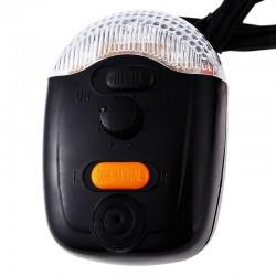 Stop frana LED bicicleta, semnalizare si claxon, buton on/off, 8 sunete
