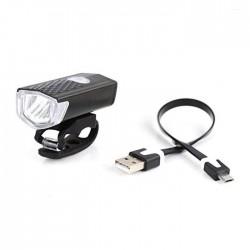 Far LED bicicleta, reincarcabil USB, 3 moduri iluminare, IP44, negru