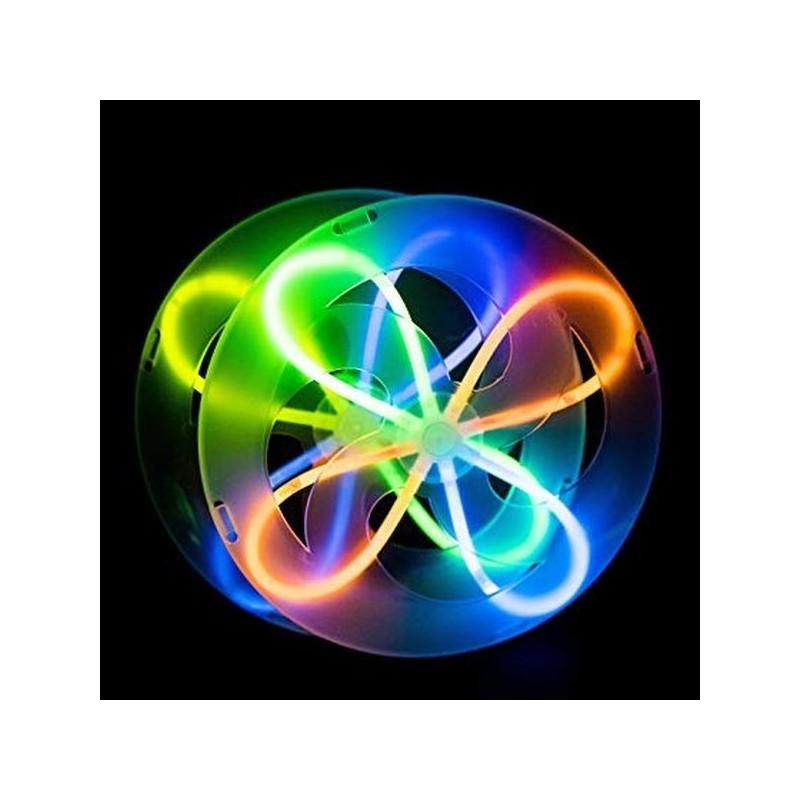 Jucarie Frisbee disc zburator luminescent glow, 19 cm, ABS