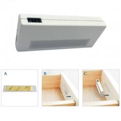 Lampa LED pentru dulap/sertar, senzor miscare, 0.6 W, 50 lumeni, acumulator