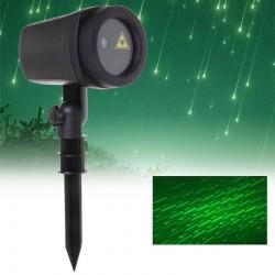 Proiector laser efect ploaie de meteoriti, joc de lumini verzi, IP44, suport