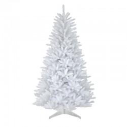 Brad artificial White Pin, decor Craciun, inaltime 150 cm, crengute albe, suport