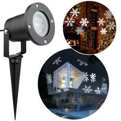 Proiector LED efect fulgi albi de zapada, 4W, metalic, IP64