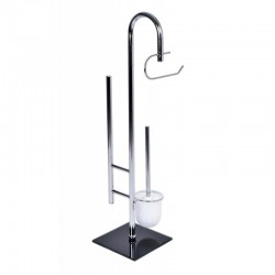 Suport elegant pentru baie, inaltime 80 cm, baza 20x20, metal