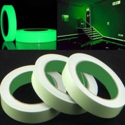 Banda fosforescenta autoadeziva, rola 25 m lungime, lumineaza verde