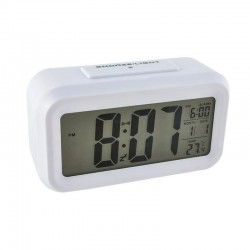 Ceas digital, ecran LCD, alarma, termometru, alimentare baterii