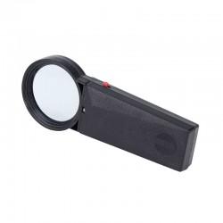 Lupa de mana 50 mm, iluminare LED, alimentare baterii