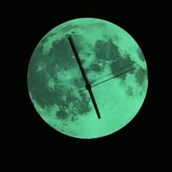 Ceas de perete Moon, fosforescent, mecanism quartz, diametru 30 cm