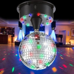 Glob disco LED RGB, 1.08W,  aplicatii oglinda, diametru 13 cm, sistem agatare